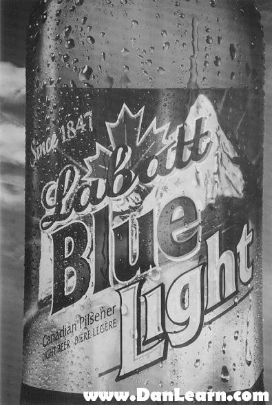 Blue Light trailer decal