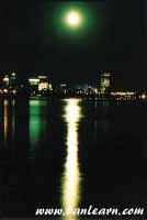 Downtown Buffalo at night