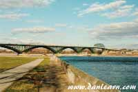 Peace Bridge and Niagara River