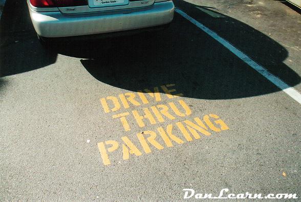 Drive thru parking