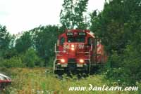 CP train in thick brush