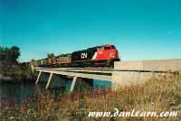 CN train over Welland River