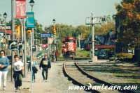 Train in Fallsview Tourist area
