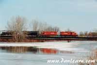 CP train crossing Welland River