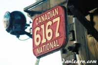 Locomotive number plate