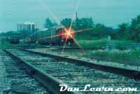CN train in yard at dusk