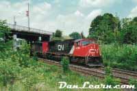 CN train in Brantford