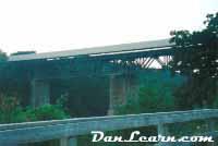 Roadrailer train at dusk
