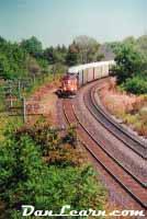 CN train rounding bend