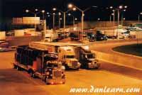 Trucks at Peace Bridge Duty Free